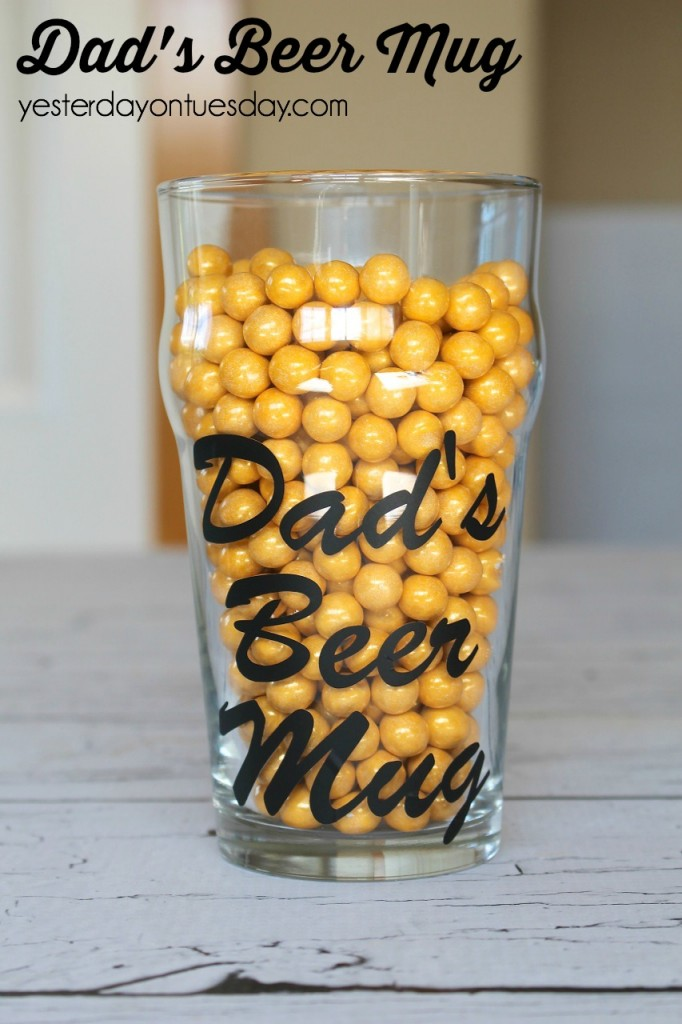 Dad's Beer Mug, a fun Father's Day gift for Dad