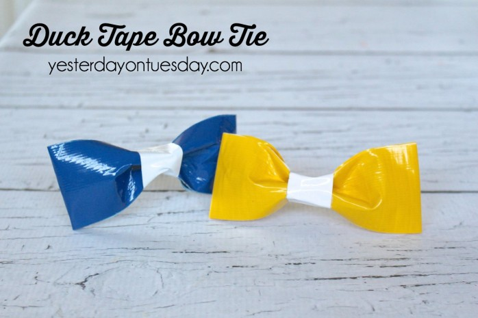 How to make a bow tie out of Duck Tape, fun gift for Father's Day.