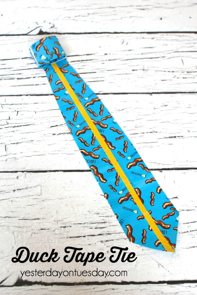 How to make a necktie out of Duck Tape, fun gift for Father's Day.