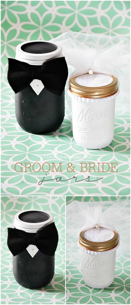 Mason-Jar-Crafts-Groom-and-Bride
