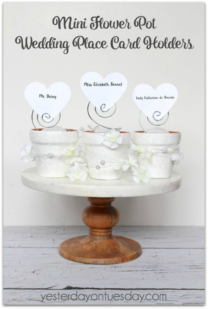 Whip Up Some Elegant And Inexpensive Wedding Place Card Holders Out Of Mini Flower Pots
