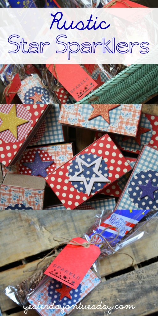 DIY Rustic Star Sparklers: how to transform plain sparklers and dollar store matches into festive star sparklers.