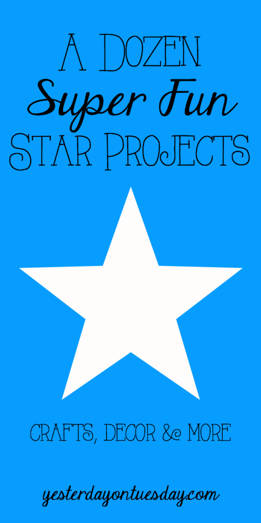 A Dozen Super Fun Star Projects: From decor ideas, to dyed book pages, signs to kid's crafts and more.