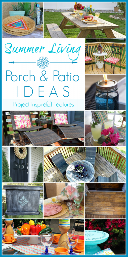 Great ideas for your outdoor space! A collection of lovely porch and patio ideas shared at Project Inspire{d} link party.
