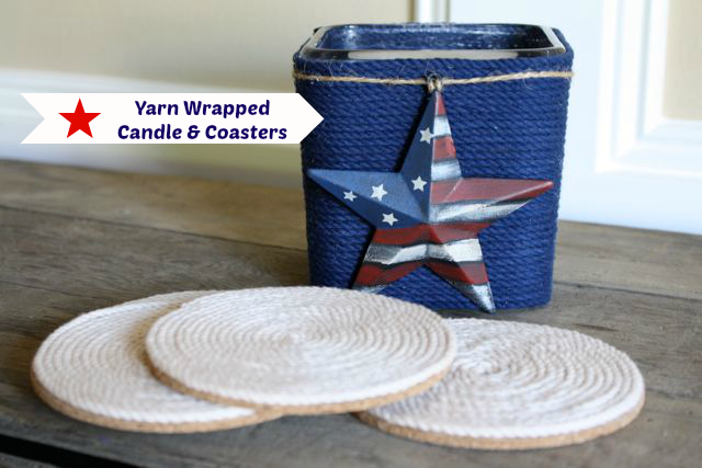 How to make a yarn wrapped candle