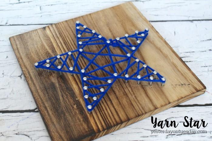 The secret to making a DIY Yarn Star