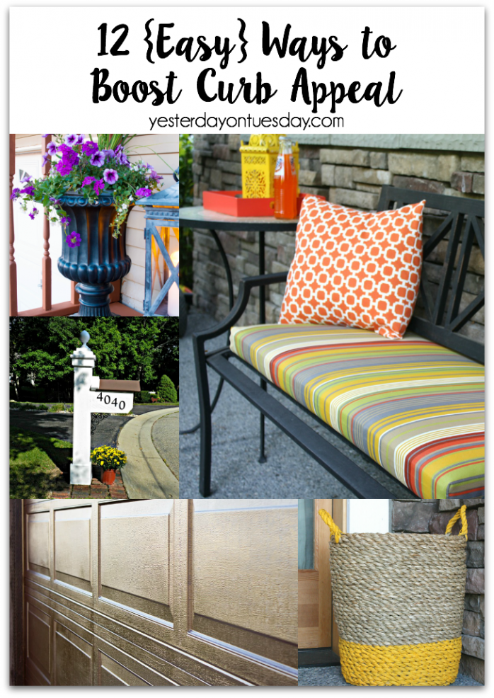 Whether you're thinking of selling your home or just sprucing up you're space, this post is full of creative ideas on boosting curb appeal!