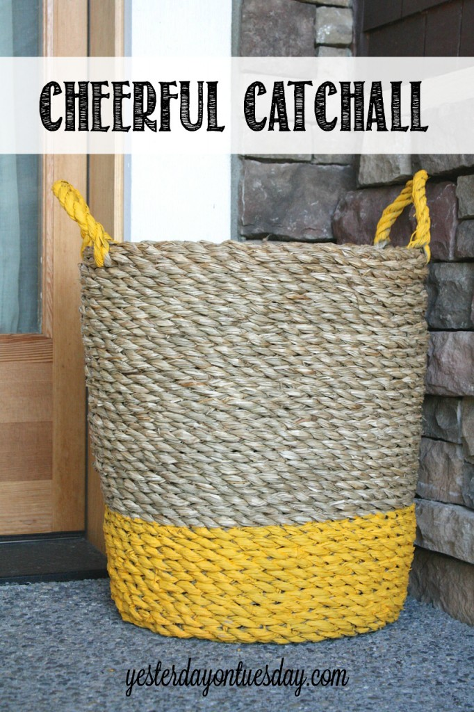Improve your home's Curb Appeal by stowing stuff in a cheerful catchall! Great way to hide sports equipment and toys.
