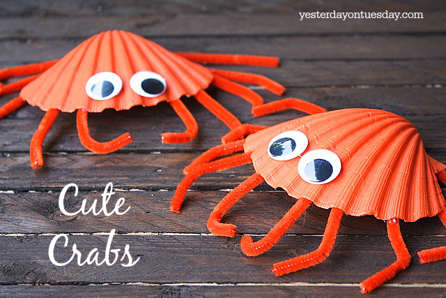 DIY Cute Crabs Kid's Craft, great summer project for kids