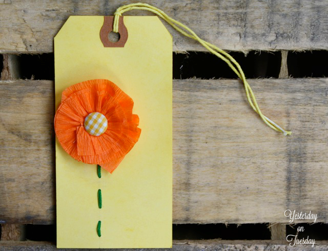 Transform plain shipping tags into creative sunshine-themed tags with scraps you already have and Rit Dye.