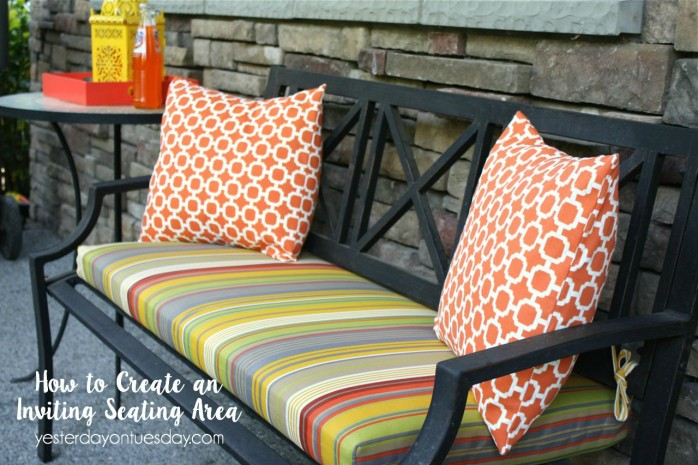 How to Create an Inviting Seating Area and boost your home's curb appeal!