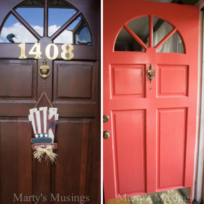 Boost your home's curb appeal by painting your front door like Marty's Musings