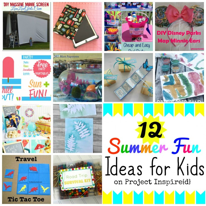 A dozen great activities for kids that you can DIY! Pin this for car trips.