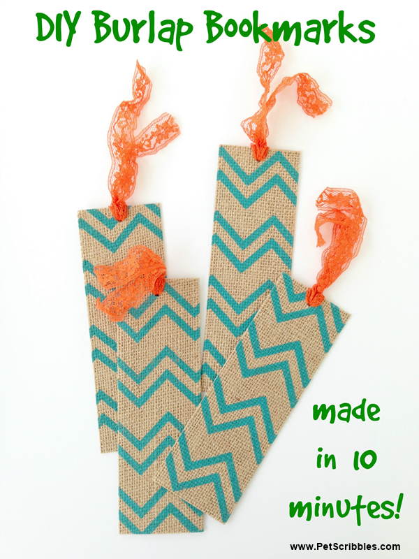 DIY Burlap Bookmarks
