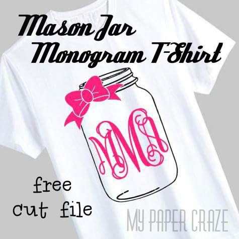 Mason Jar Monogram Shirt