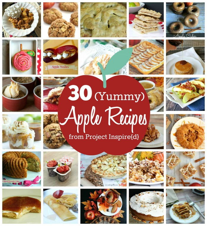 30 Yummy Apple Recipes, a great one to pin for fall!