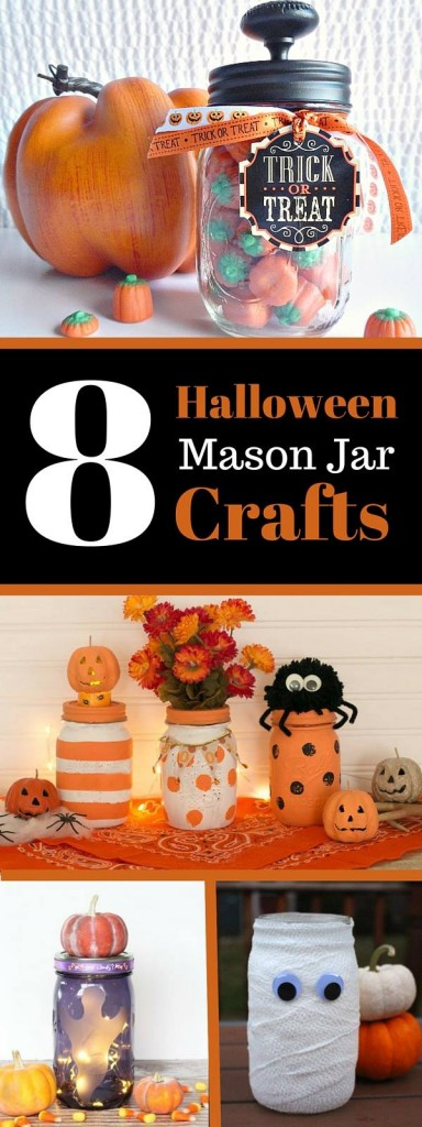 8 Halloween Mason Jar Crafts, part of Mason Jar Monday