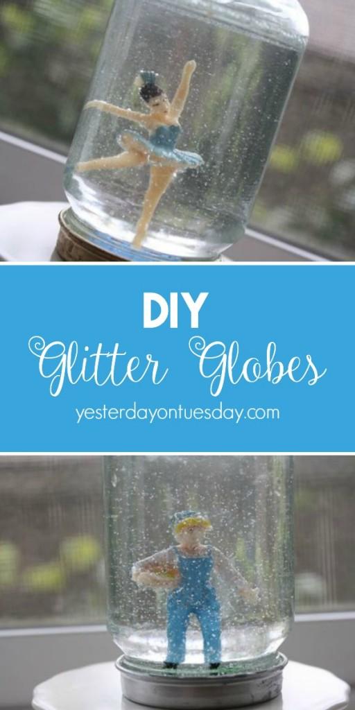 How to make glitter globes