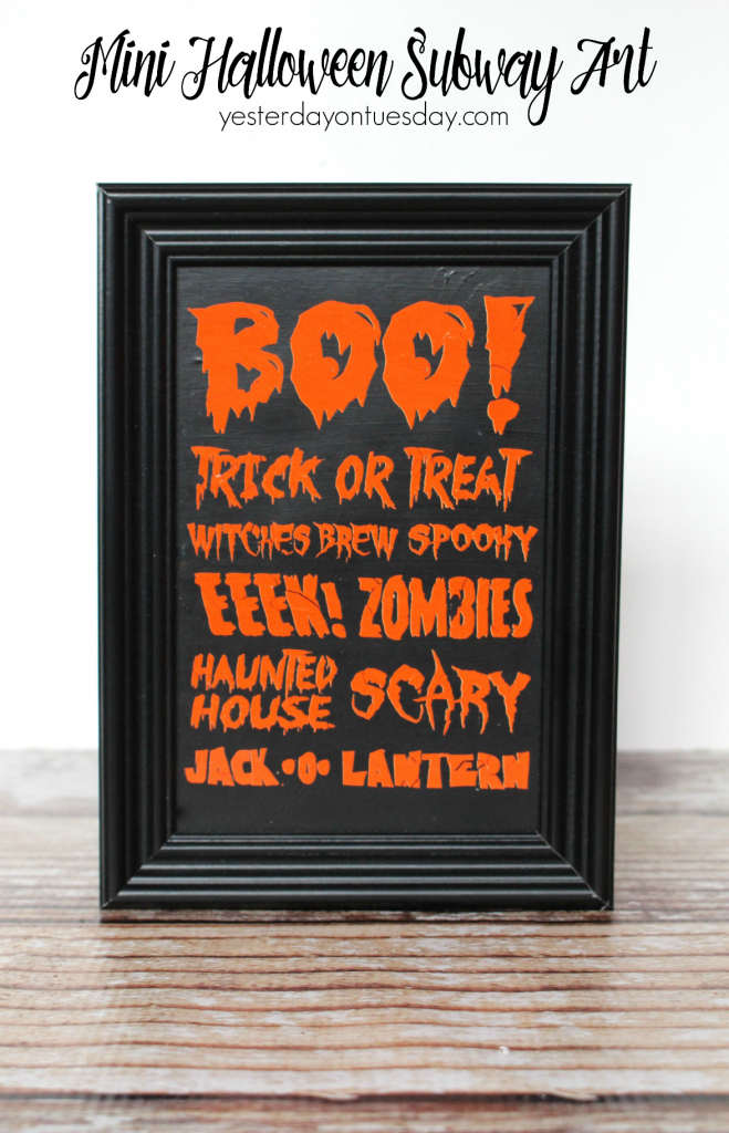 Whip up these darling subway art for Halloween, fun project for kids.