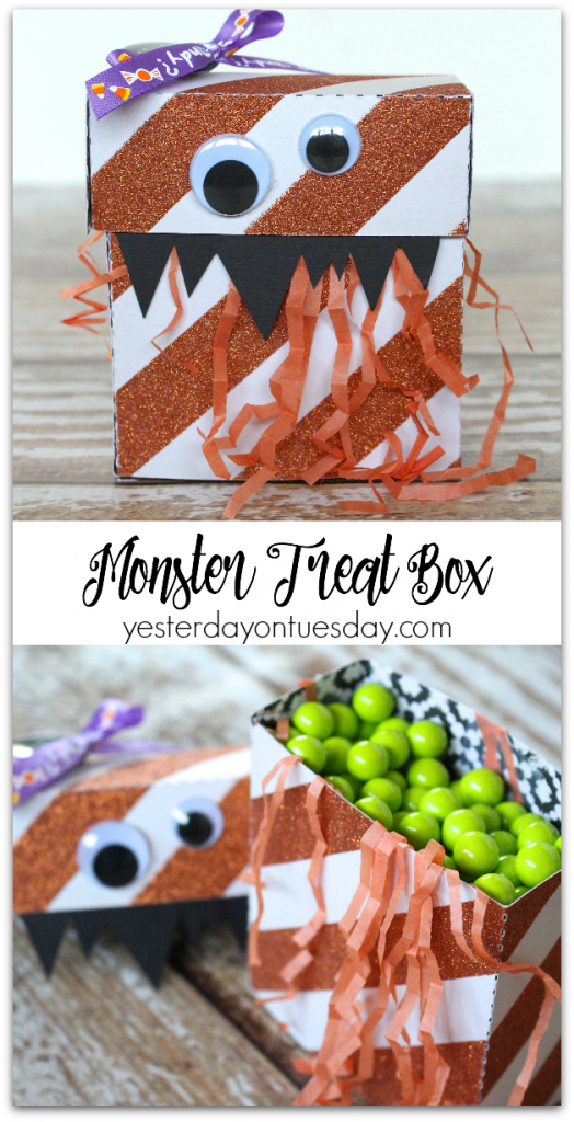 DIY super cute Monster Treat Boxes for Halloween, great for classroom parties