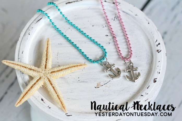 How to create lovely nautical necklaces, a fun party favor