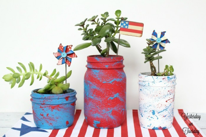 Use an old toothbrush to make paint splatters