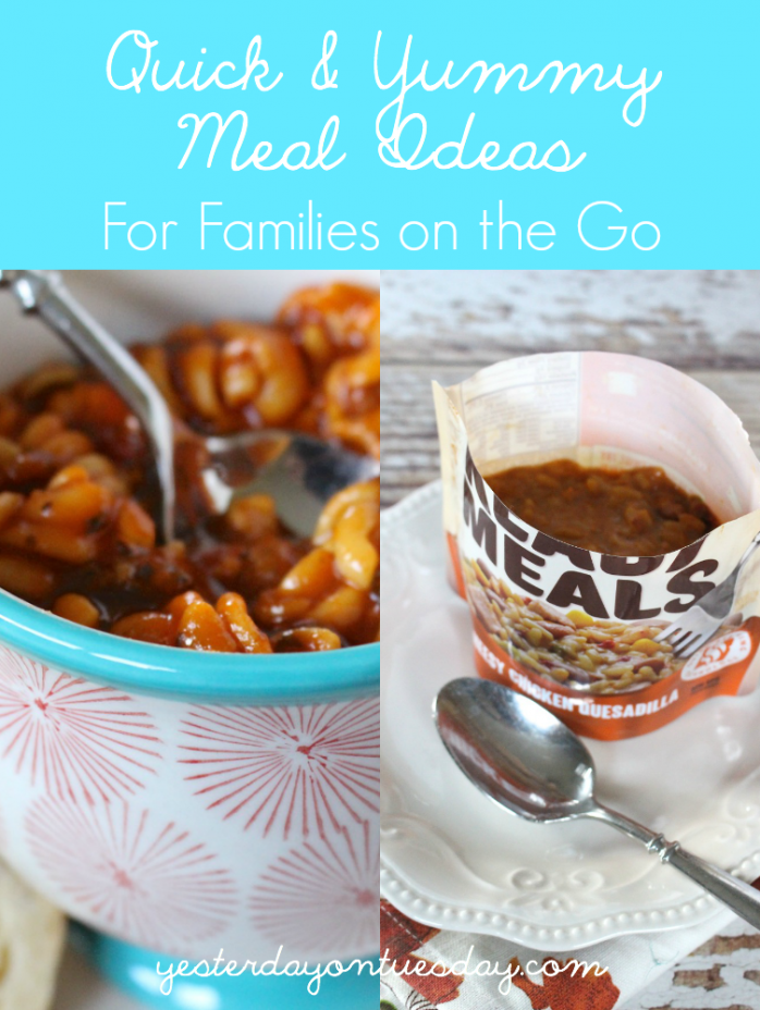 Quick and yummy meal idea for families on the go to sports and activities