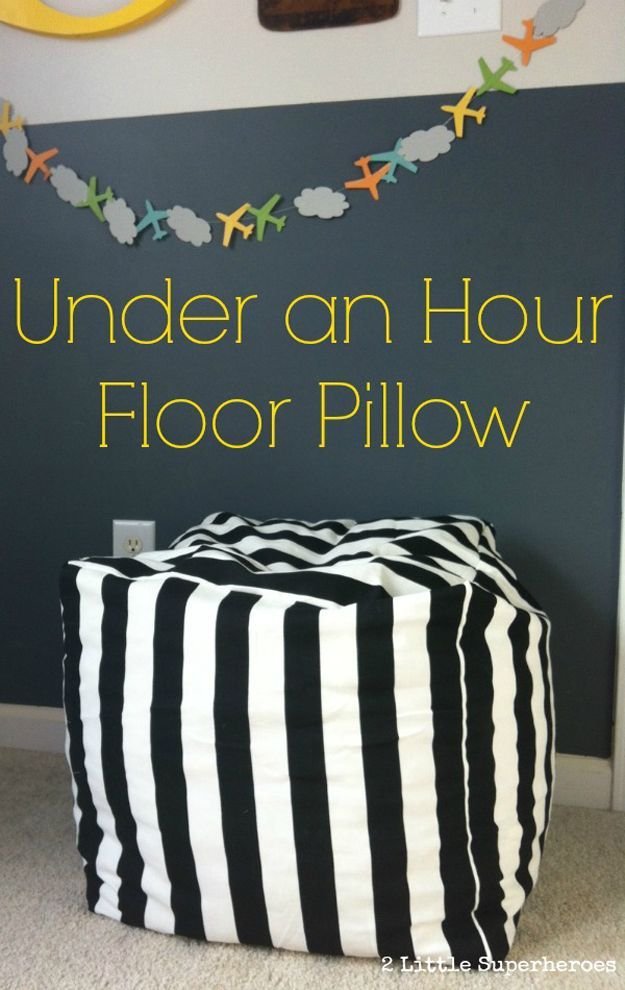Under and Hour Floor Pillow