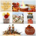 7 Thanksgiving Decor Ideas including centerpiece ideas