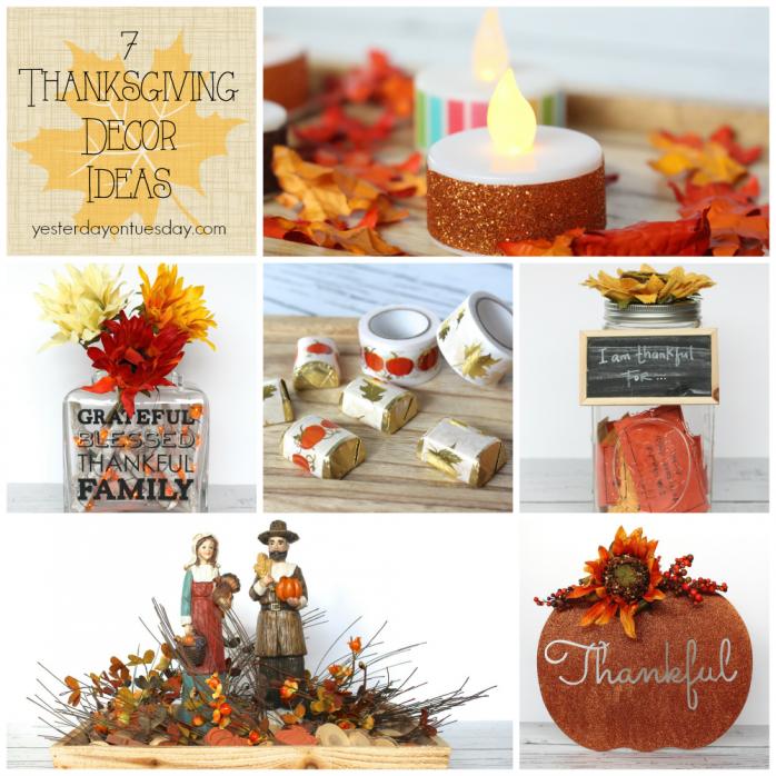 7 Thanksgiving Decor Ideas including centerpiece ideas