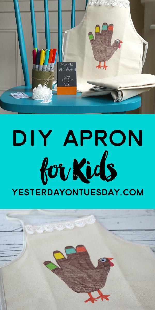 DIY Thanksgiving Apron for Kids