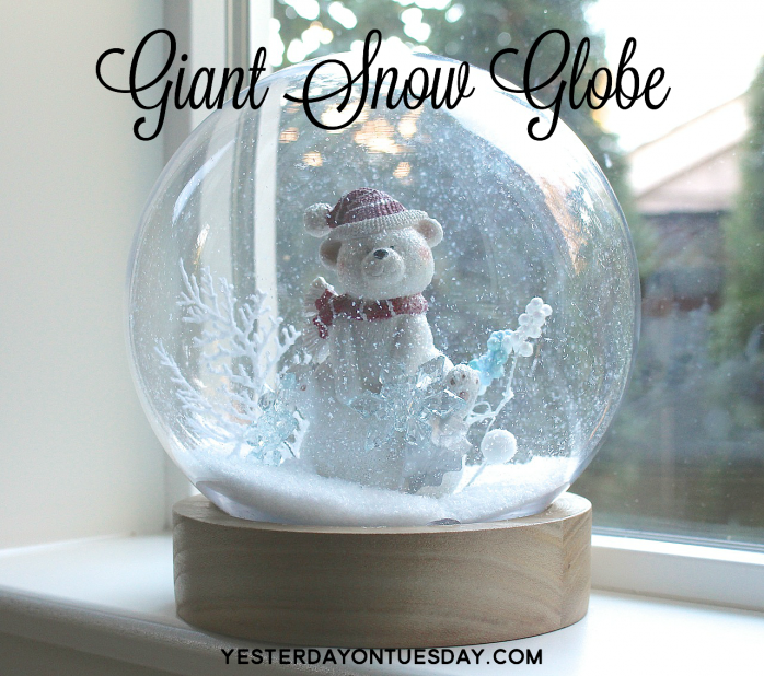 DIY Giant Snow Globe, great for Christmas Decorating