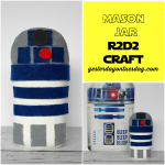 DIY Mason Jar R2D2 craft with @decoart paint