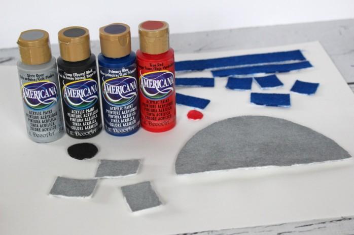 DIY Mason Jar R2D2 craft