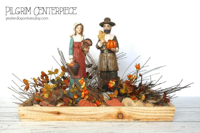 Easy Pilgrim Centerpiece for Thanksgiving
