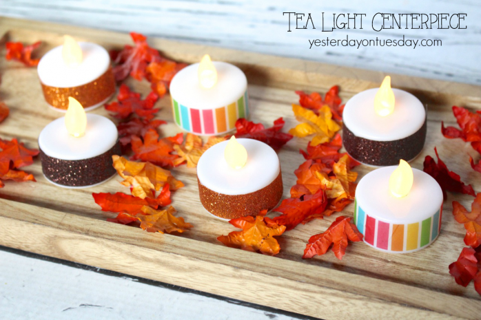 Tea Light Centerpiece, a warm and wonderful way to light up your Thanksgiving table