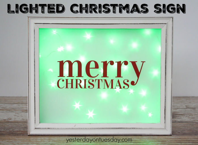 How to make a fun Lighted Christmas Sign