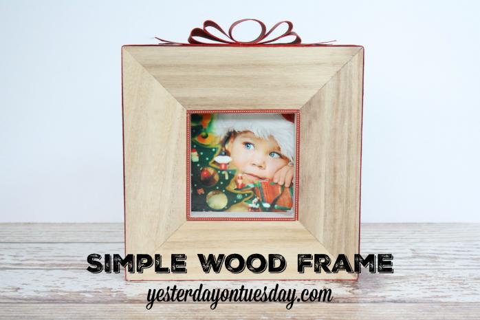 Make a Simple Wood Frame for Christmas decor