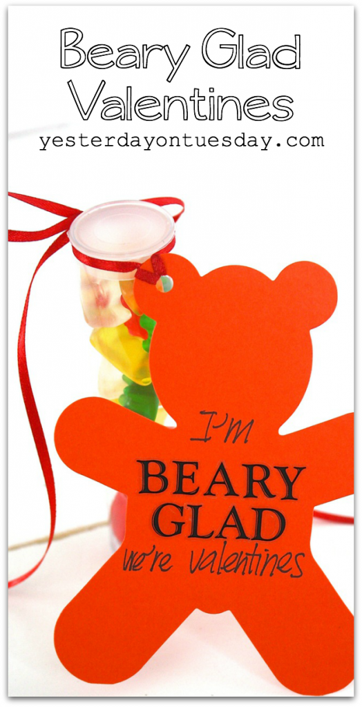 Beary Glad Valentines, a fun homemade valentines idea for kids