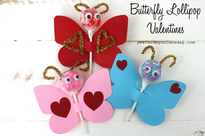 Butterfly Lollipop Valentines