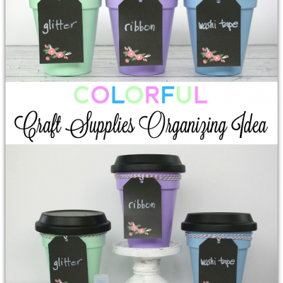 Colorful Craft Supplies Organizing Idea
