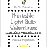 Printable Light Bulb Valentines and gift
