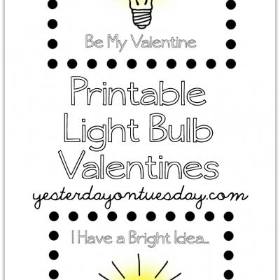 Printable Light Bulb Valentines