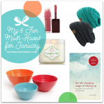 My 5 Fun Must-Haves for January including C.C Beanies, bowls from The Pioneer Woman, The Lipgloss from Kevin Aucoin, The Life-Changing Magic of Tidying Up, and a Eucalyptus Mint Candle from Bath and Body Works