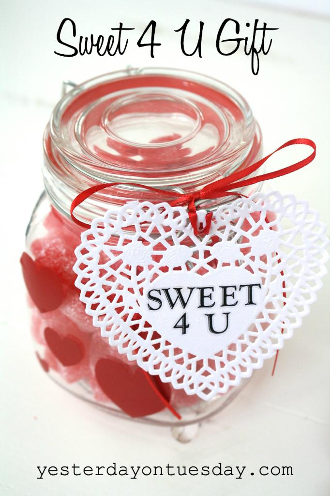 Sweet 4 U Gift in a mason jar
