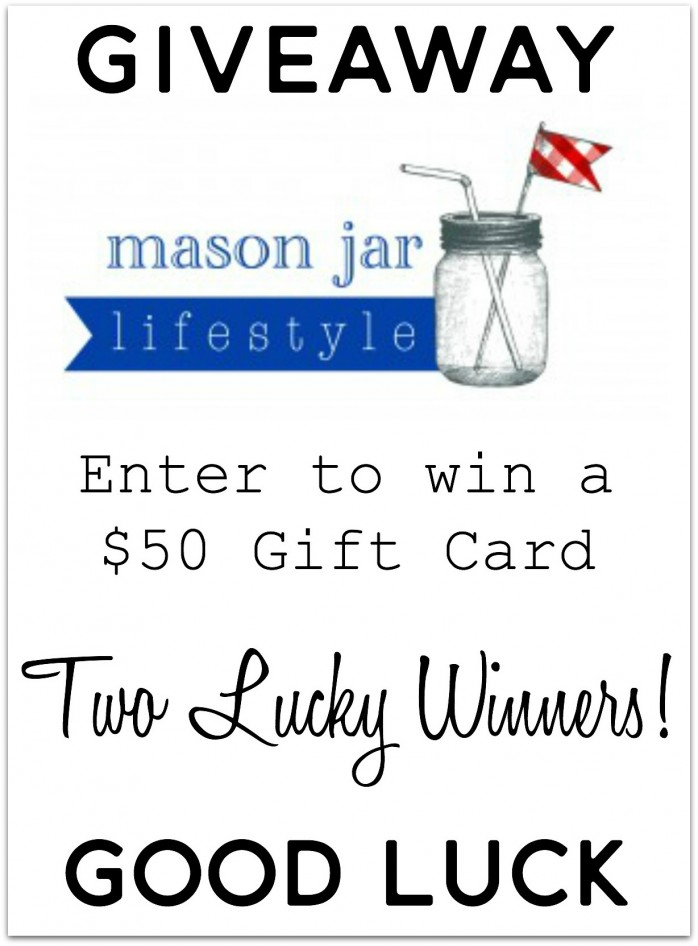 Enter to win a $50 gift card to Mason Jar Lifestyle