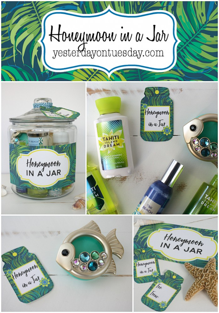 Honeymoon in a Jar, a great wedding gift idea plus free printable labels and tags.
