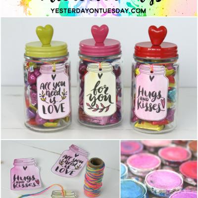 Mason Jar Watercolor Tags