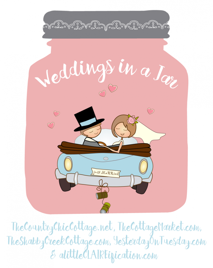 Weddings in a Jar 2016: Twenty five wedding amazing mason jar ideas for brides, grooms and more.