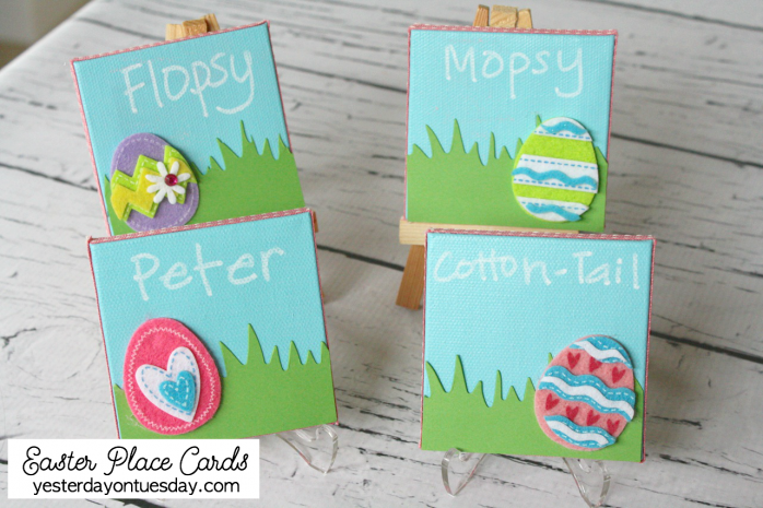 Easter Place Cards, a fun spring craft for kids and also great for entertaining!